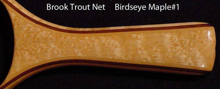 brook trout net birdseye maple